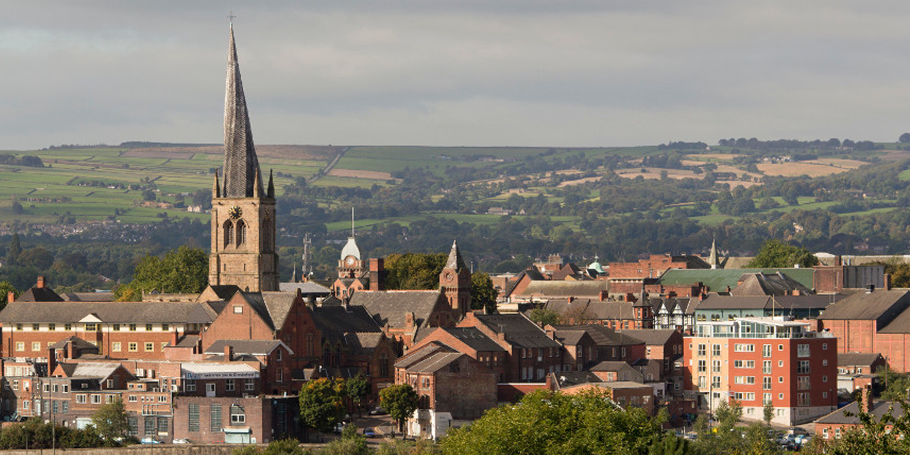 The Crooked Spire, the famous church tower of Chesterfield, where our Caldic UK office is located