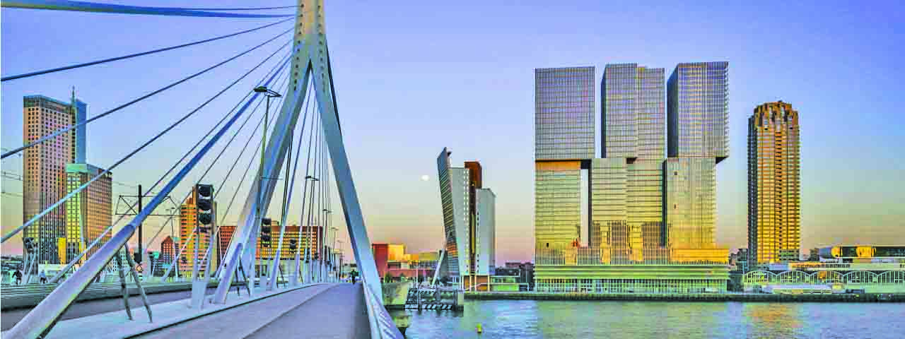Rotterdam Skyline with Erasmus bridge