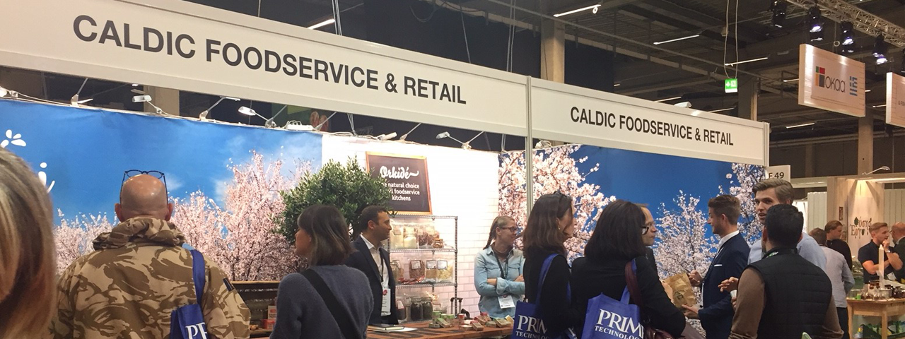 The Caldic Foodservice and Retail stand at the Natural Ingredients Scandinavia event