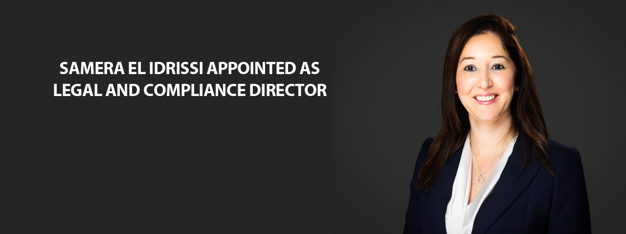 Appointment Samera El Idrissi as Legal and Compliance Director