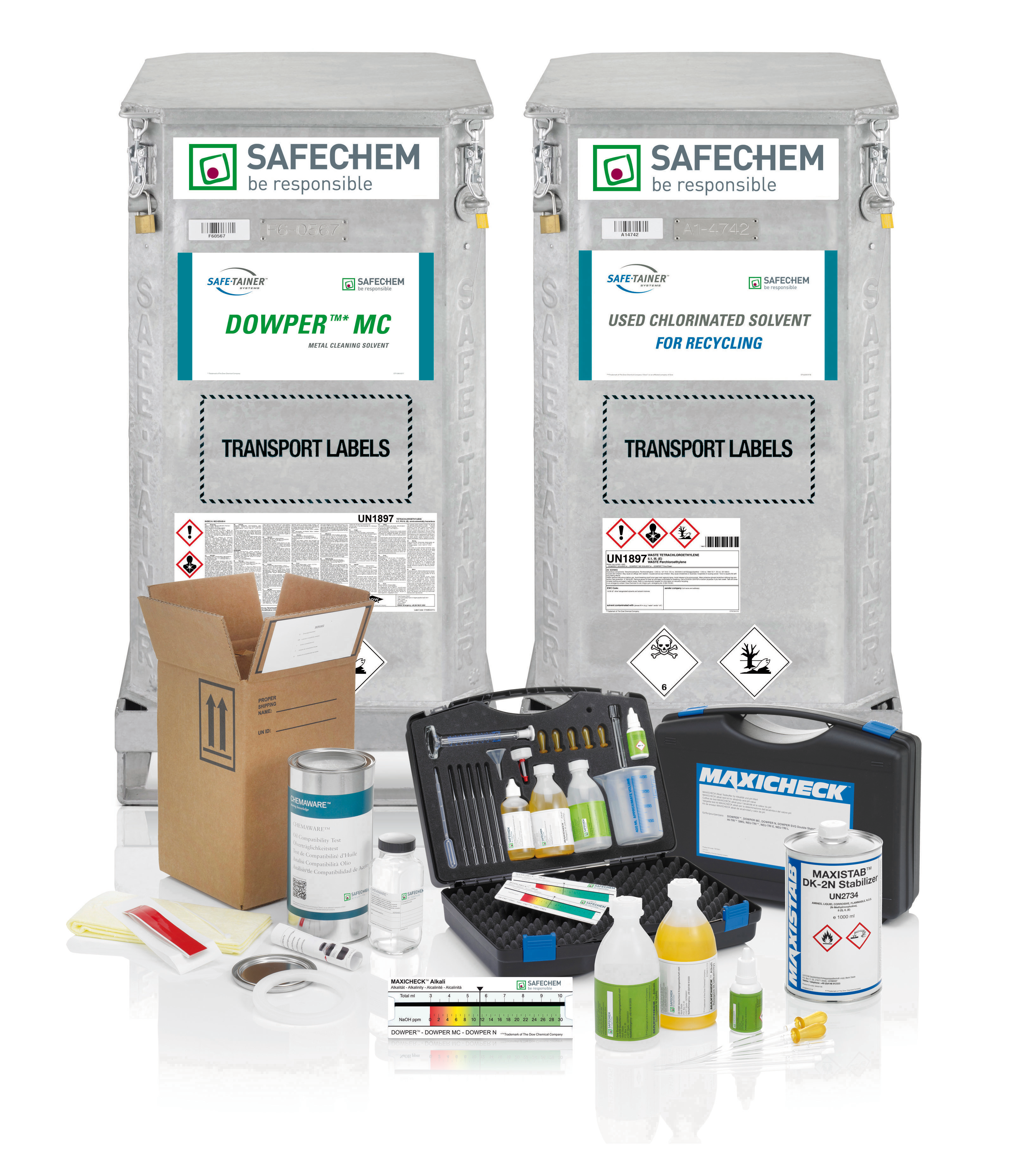 Safe-Tainers and other solvent maintenance products