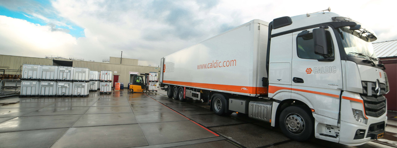 Caldic truck transporting goods like solvents