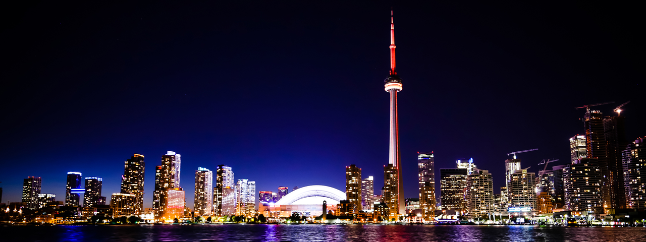 Toronto by night, the city where the head office of Caldic Canada is established
